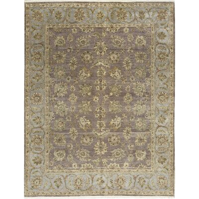 One-of-a-Kind Safari Coll Floral Alignment Hand-Woven Wool Brown/Green Area Rug