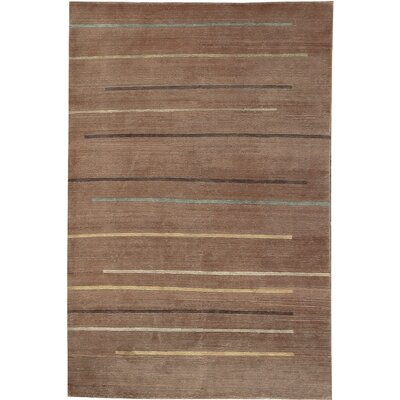 Tibetan Hand-Woven Wool Brown Area Rug