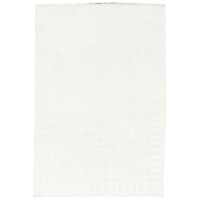 One-of-a-Kind Hand-Woven White Area Rug