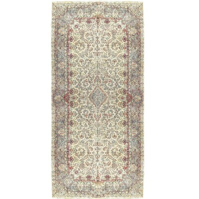 Fine Scattered Plants Hand-Woven Wool Red/Ivory Area Rug