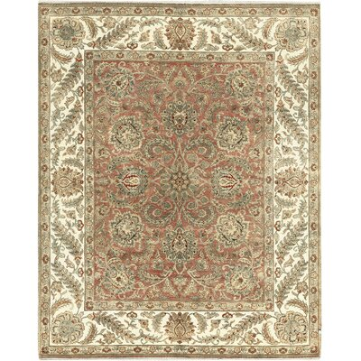 One-of-a-Kind Mountain Hand-Woven Wool Rust/Ivory Area Rug