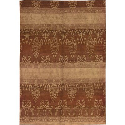 One-of-a-Kind Himalayan Hand-Woven Brown Area Rug