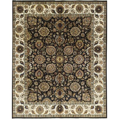 Sona Hand-Woven Wool Black/Ivory Area Rug