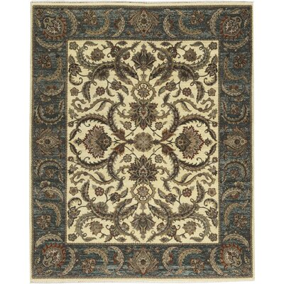 One-of-a-Kind Mountain Hand-Woven Wool Brown/Blue/Beige Area Rug