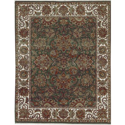 One-of-a-Kind Mountain Hand-Woven Wool Green/Brown Area Rug