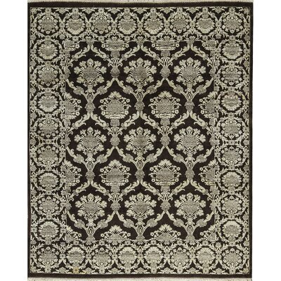 One-of-a-Kind Rama Hand-Woven Black/Ivory Area Rug