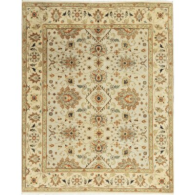 One-of-a-Kind Cornwall Hand-Woven Wool Ivory/Brown Area Rug