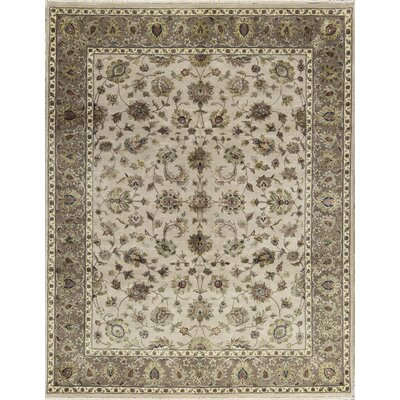 One-of-a-Kind Dharma Hand-Woven Ivory/Brown Area Rug