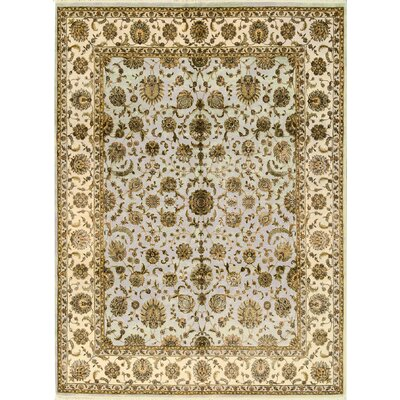 One-of-a-Kind Shamas Hand-Woven Wool Ivory/Brown Area Rug