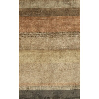One-of-a-Kind Ecco Hand-Woven Brown/Beige Area Rug