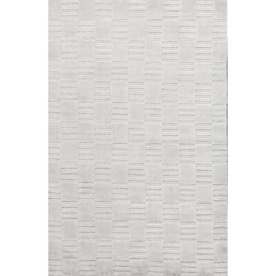 Gingham Hand-Woven Silver Area Rug