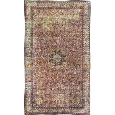 Hand-Woven Wool Rust/Ivory Area Rug