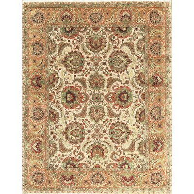 One-of-a-Kind Mountain Hand-Woven Wool Green/Orange Area Rug