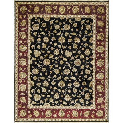 One-of-a-Kind Dharma Hand-Woven Black/Red/Beige Area Rug