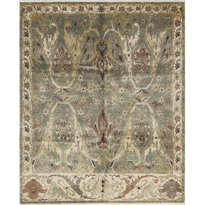 Bikaner Hand-Woven Wool Green/Ivory Area Rug