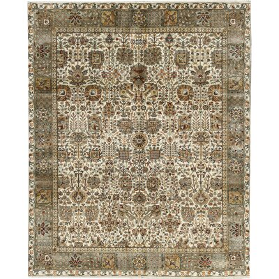 Sona Hand-Woven Wool Cream/Light Blue Area Rug