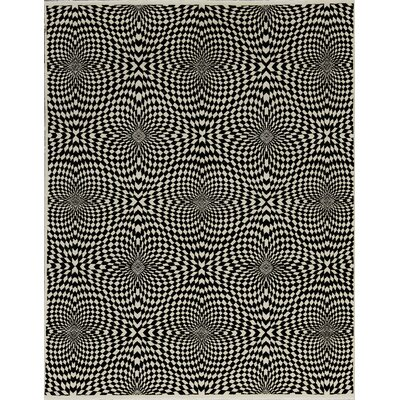 Brookhaven Hand-Woven Wool Ivory/Black Area Rug