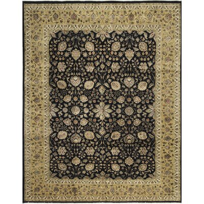 Aberdeen Hand-Woven Wool Black/Gold Area Rug