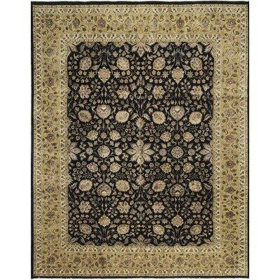 Aberdeen Hand-Woven Wool Black/Gold Area Rug