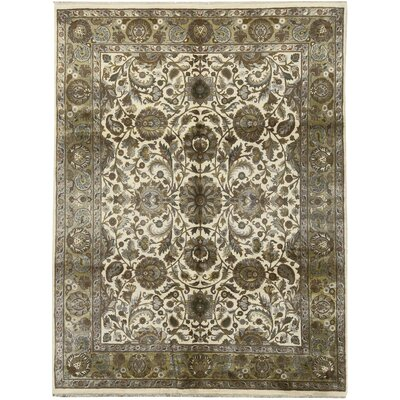 One-of-a-Kind Crown Hand-Woven Wool Gray Area Rug