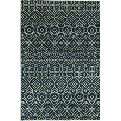 One-of-a-Kind South Sea Hand-Woven Wool Black/Beige Area Rug