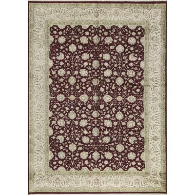 One-of-a-Kind Nirvana Hand-Woven Red/Ivory Area Rug