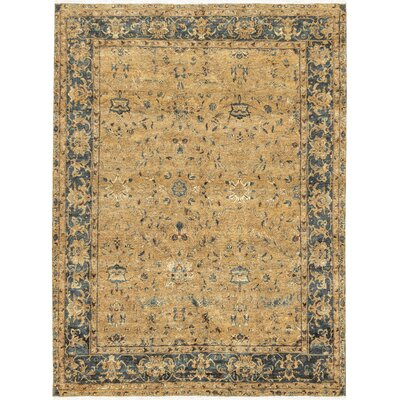 Bikaner Hand-Woven Wool Gold/Green Area Rug