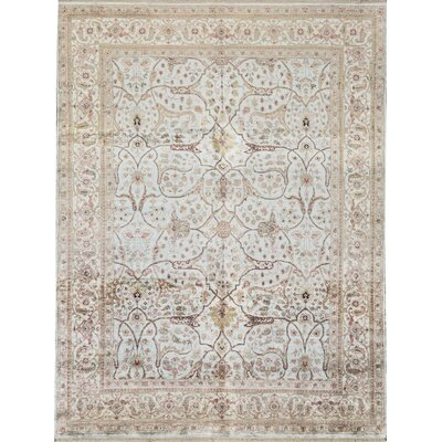 One-of-a-Kind Hand-Woven Ivory Area Rug