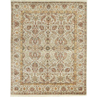 One-of-a-Kind Mountain Hand-Woven Wool Ivory Area Rug