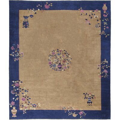 Chinese Hand-Woven Wool Brown Area Rug