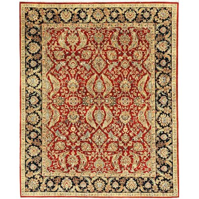 One-of-a-Kind Mountain Hand-Woven Wool Red/Gold Area Rug