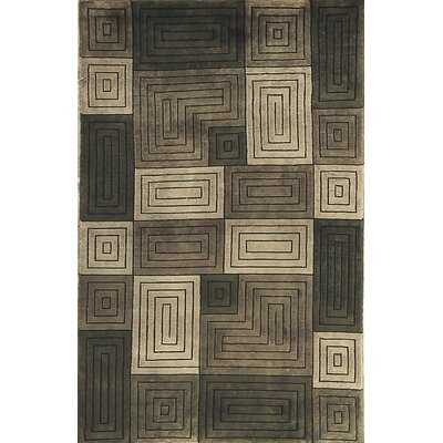 One-of-a-Kind Himalayan Hand-Woven Wool Brown/Gray Area Rug