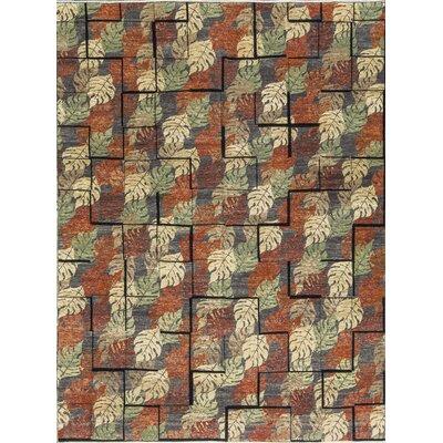 Tibetan Hand-Woven Wool Charcoal/Beige Area Rug