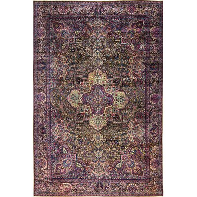 Hand-Woven Wool Purple/Red Area Rug