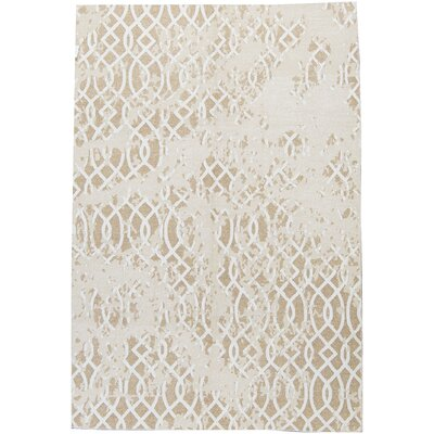 One-of-a-Kind Himalayan Hand-Woven Linen Beige/Brown Area Rug