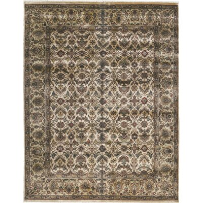 Avalon Hand-Woven Wool Ivory/Brown Area Rug