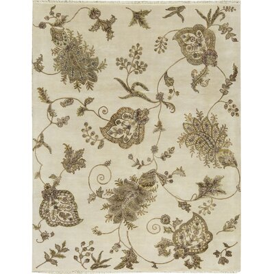 One-of-a-Kind Dharma Hand-Woven Brown/Ivory Area Rug