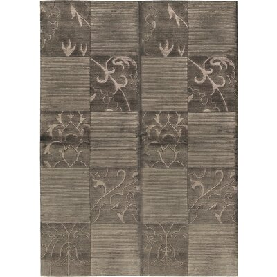 One-of-a-Kind Himalayan Hand-Woven Wool Brown Area Rug