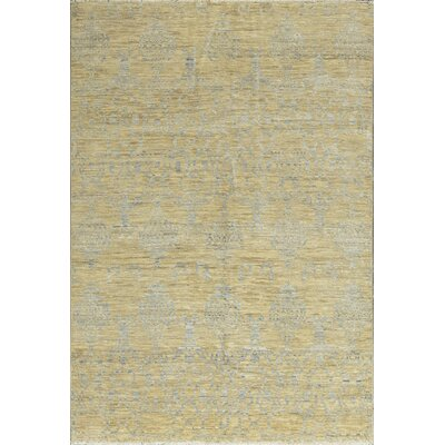 One-of-a-Kind South Sea Hand-Woven Wool Yellow/Gray Area Rug