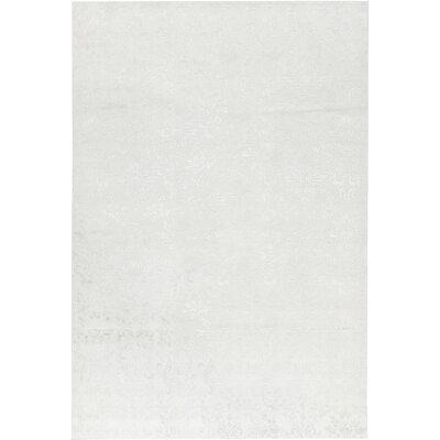 One-of-a-Kind Himalayan Hand-Woven White Area Rug
