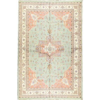 Indo Hand-Woven Wool Ivory/Rose Area Rug
