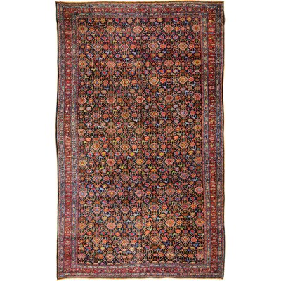 Hand-Woven Wool Red Area rug