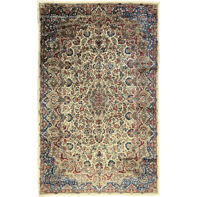 One-of-a-Kind Hand-Woven Wool Rust/Navy Area Rug
