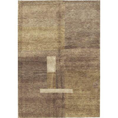 Himalayan Hand-Woven Wool Brown Area Rug
