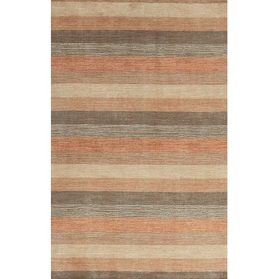 One-of-a-Kind Gabbeh Hand-Woven Wool Orange/Beige Area Rug
