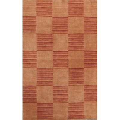One-of-a-Kind Gabbeh Hand-Woven Wool Rust/Red Area Rug
