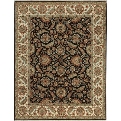 Cornwall Hand-Woven Wool Black/Ivory Area Rug
