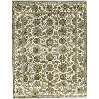 One-of-a-Kind Mountain Hand-Woven Wool Green Area Rug