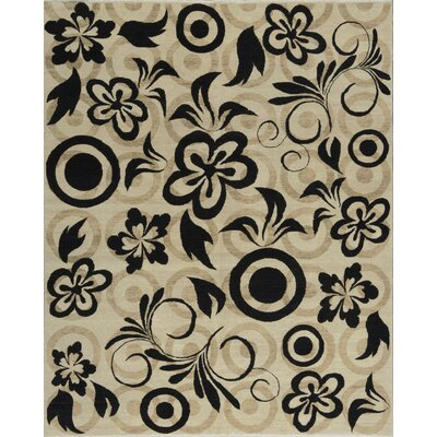 Brookhaven Hand-Woven Ivory/Black Area Rug