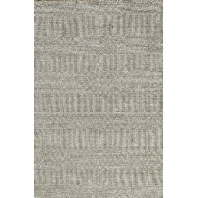 Hidden Strips Hand-Woven  Gray Area Rug